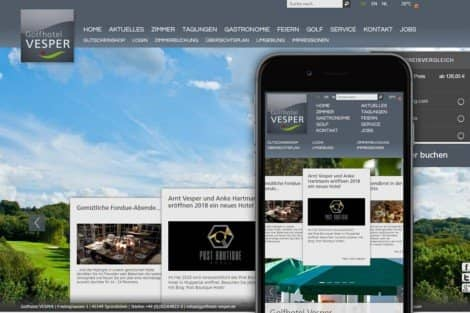 Golfhotel Vesper Website