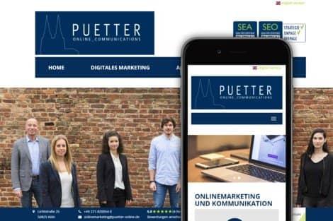 Pütter GmbH Website